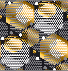 gold and gray color creative repeatable motif vector image