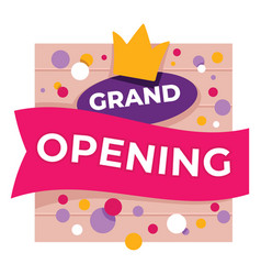 Grand opening shop or store announcement banner vector