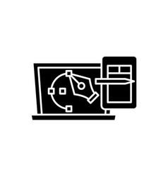 graphics black icon vector image