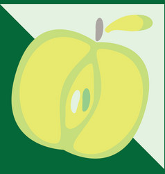 Green apple sign icon fruit with leaf symbol vector