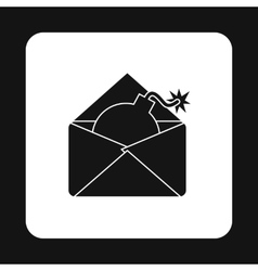 Hacking e-mail icon simple style vector