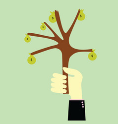 Handle tree money vector image