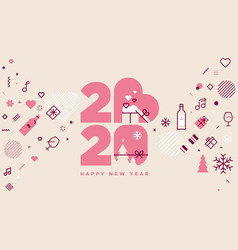 happy new year 2020 and lots love vector image