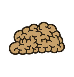Human brain think creativity image vector