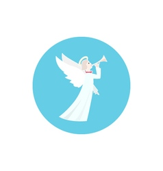 Icon Colorful Christmas Angel vector