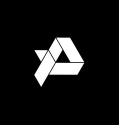 Initial letter ap or pa logo template with lowpoly vector