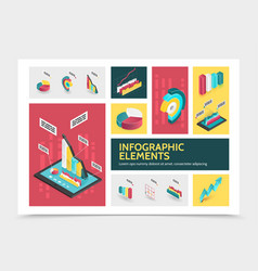 isometric abstract infographic concept vector image
