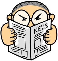 Kid Read News vector