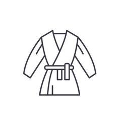 kimono line icon concept kimono linear vector image
