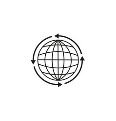 land globe around icon vector image