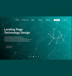 landing page with traffic background vector image