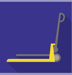 lift cart icon flat style vector image