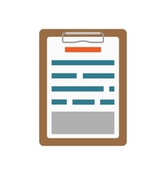 List clipboard icon vector