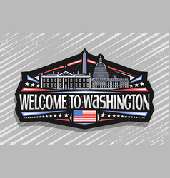 logo for washington vector image