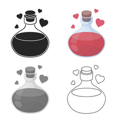 Love potion icon in cartoon style isolated on vector