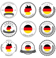 Made in Germany seals badges vector image