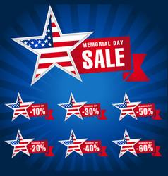 Memorial day usa sale dark blue vector
