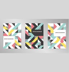 modern cover design background set a4 format vector image