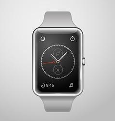 Modern digital watches template vector