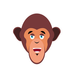 Monkey happy emoji marmoset merry emotion vector