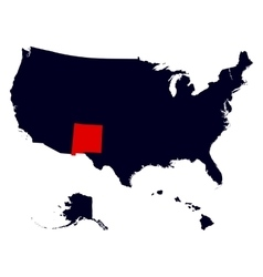 new mexico state in united states map vector image