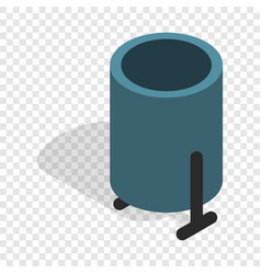 Outdoor bin isometric icon vector