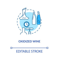 Oxidized wine concept icon alcohol drink flaws vector