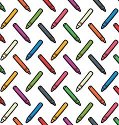 pattern of color wax pencils vector image