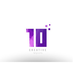 pink number logo 10 with squares vector image