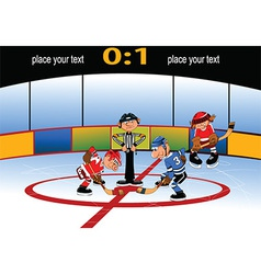 Playing hockey cartoon vector