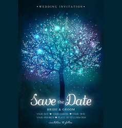 save date inspiration card for wedding date vector image
