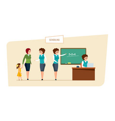 Schooling concept education in school classes vector