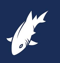 Sea Shark Silhouette vector