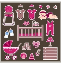 Set for a little girl vector image