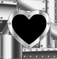 Sheet of metal with heart vector