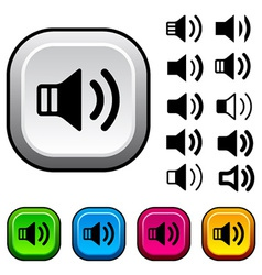 Speaker icons and buttons vector