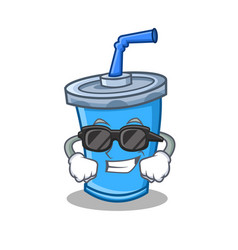 Super cool soda drink character cartoon vector