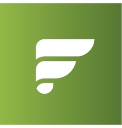 The letter F on the flat style logo vector image