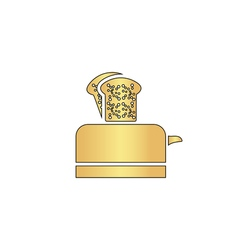 Toaster computer symbol vector image