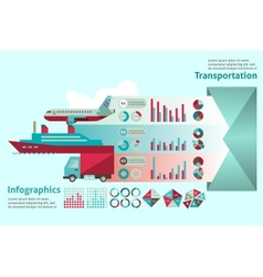 Transport infographic set vector