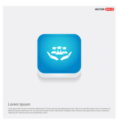 User in hand icon vector