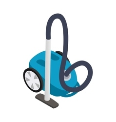 Vacuum cleaner icon isometric 3d style vector image