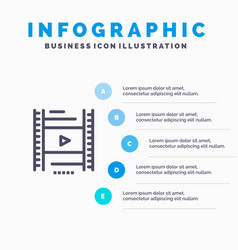 Video lesson film education blue infographics vector