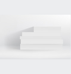 white hardcover stack books vector image
