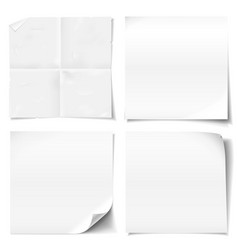 white sticky notes vector image