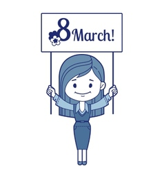 Woman congratulates March 8 vector