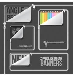 zip zipper background vector image