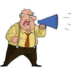 boss with megaphone vector image vector image