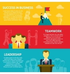 Leadership horizontal banners set vector image vector image