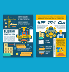 poster for house building construction vector image